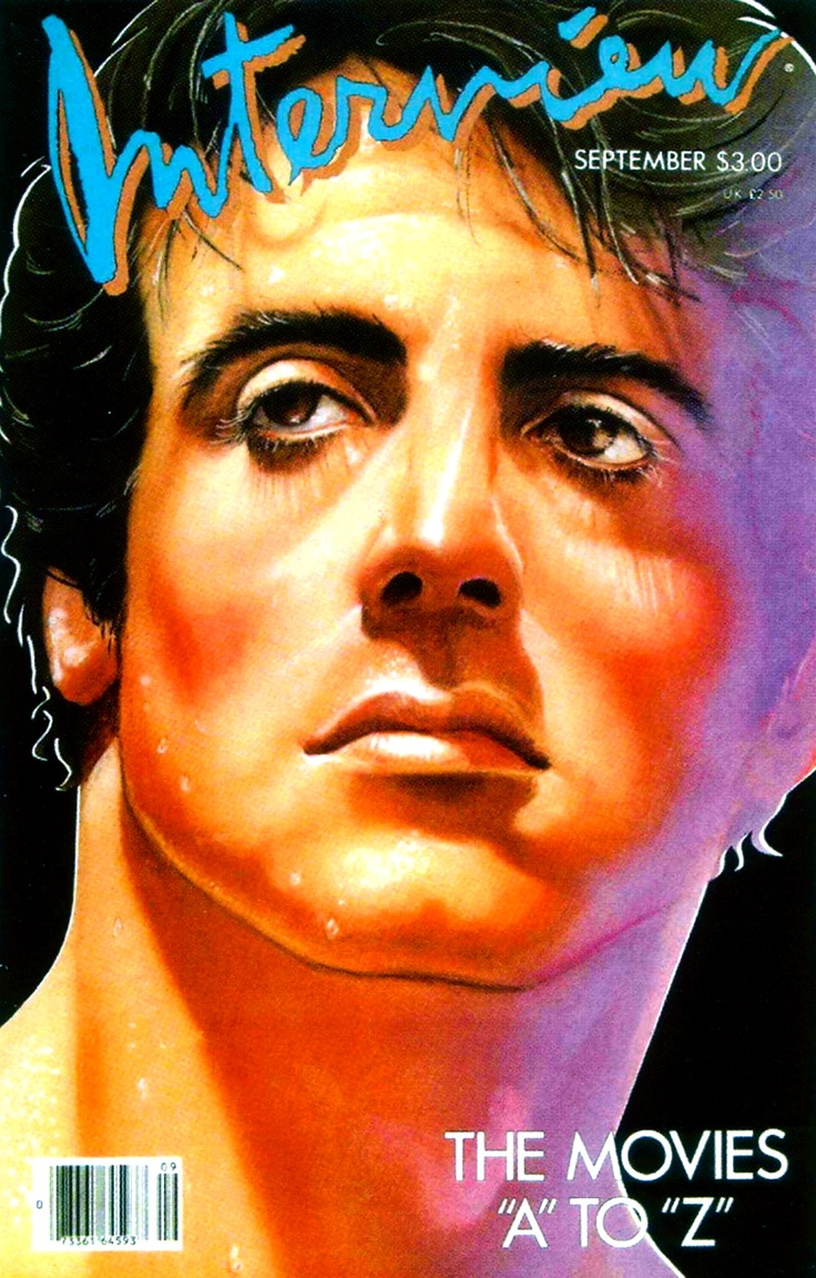 #interview magazine #rocky #sylvester stallone #movies #vintage