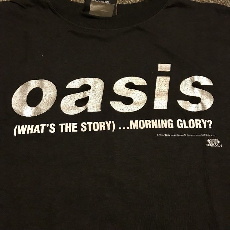Deadstock 1995 OASIS What's The Story Morning Glory Vintage Shirt Size XL nos | eBay