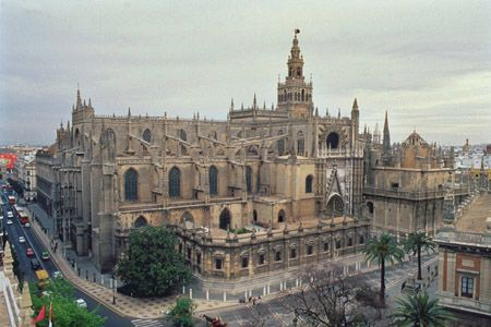 The cathedral of Sevilla, Spain.