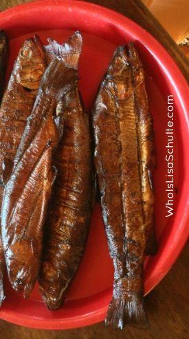 Smoking fish brine harder keep