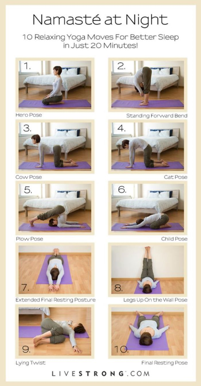 Namaste At Night €� #yoga For Better #sleep : Here Is A Wonderful  Illustration