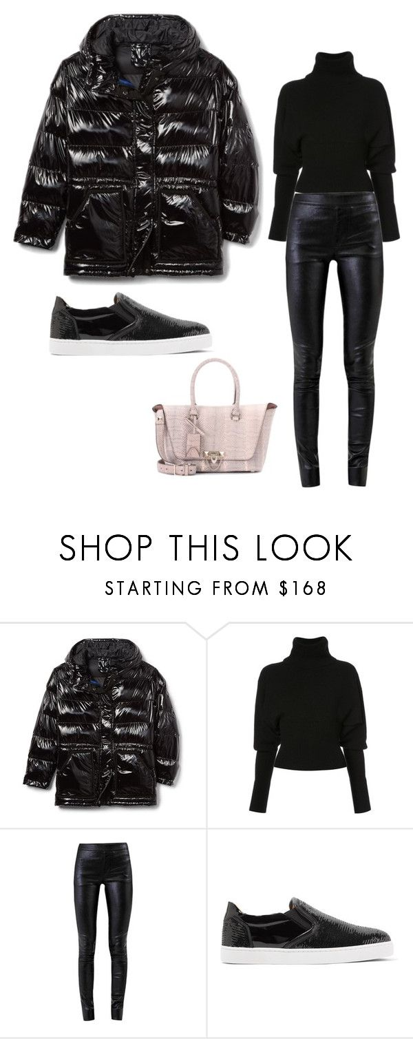 """Leather sporty outfit"" by eda-kunics on Polyvore featuring Creatures of the Wind, Helmut Lang, Christian Louboutin and Valentino"