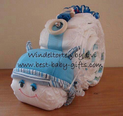 Baby snail diaper cake