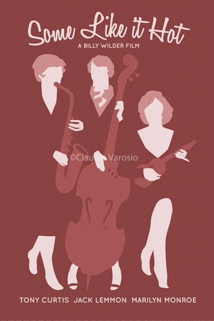 Movie poster Some Like it Hot retro by ClaudiaVarosio