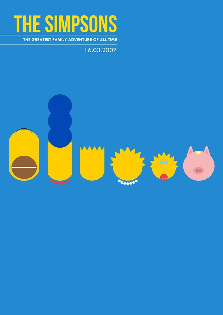 The Simpsons Movie (2007) Minimalist Movie Poster
