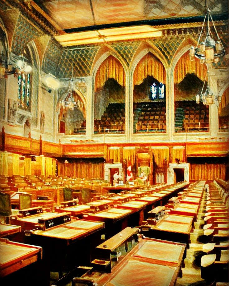 The House of Commons, Parliament, Ottawa, Canada