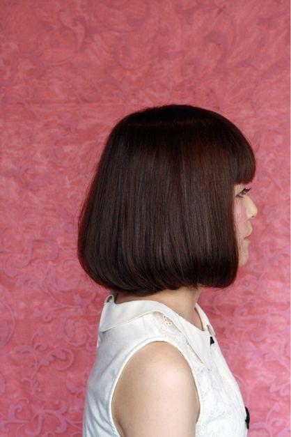 ナチュラル重めワンレングスボブ | 京橋・都島・天満橋の美容室 hair&make ajax のヘアスタイル | Rasysa(らしさ)