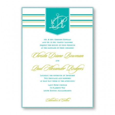 Anchor 2-Layer Beach Wedding Invitations