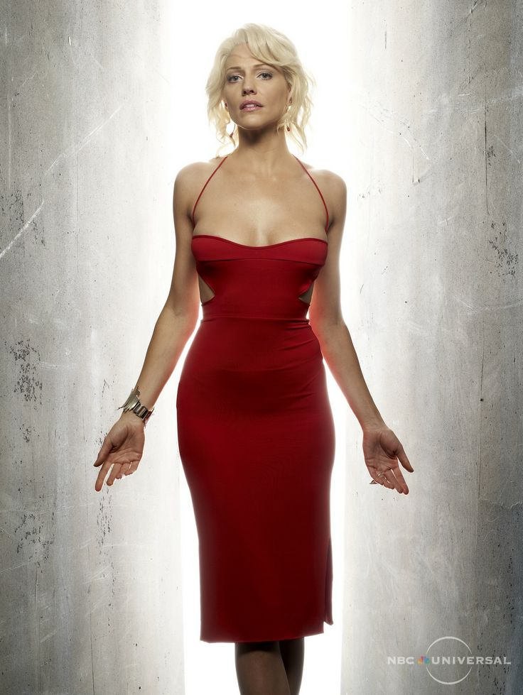 Cylon 6 red dress v neck