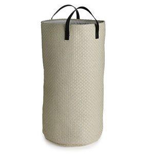 Tall Laundry Tote & Washing Basket, 48 Litres - Cream  | eBay