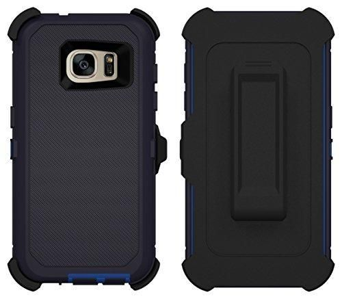 Galaxy S7 Case ToughBox [Armor Series] [ShockProof] [Night Blue | Blue] for Samsung Galaxy S7 Case [Built in Screen Protector] [With Holster & Belt Clip] [Fits OtterBox Defender Series Belt Clip]
