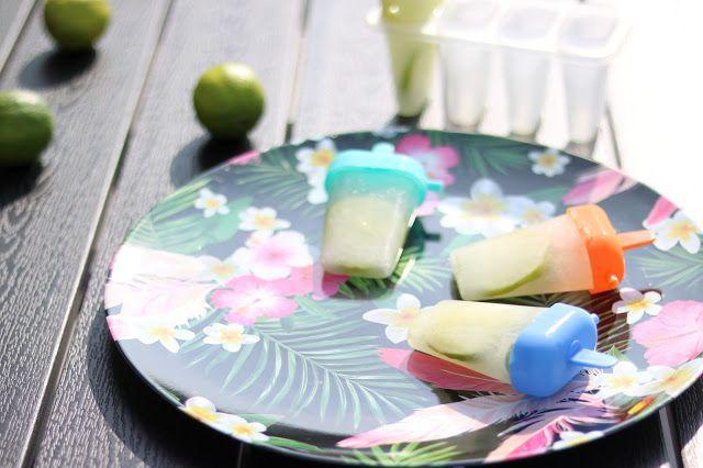 Glaces à l'eau mojito (sans alcool)