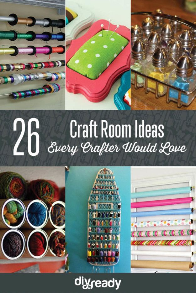 26 Craft Room Ideas Every Crafter Would Love   Creative and Cute Projects On A Budget http://diyready.com/room-ideas-every-crafter-would-love/