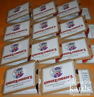 BloominKards: Chuck E. Cheese Invitations