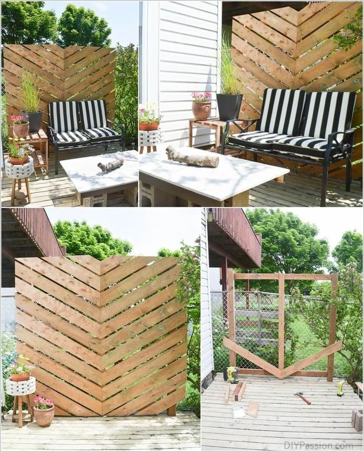 Awesome Diy Outdoor Privacy Screen Ideen Mit Bild