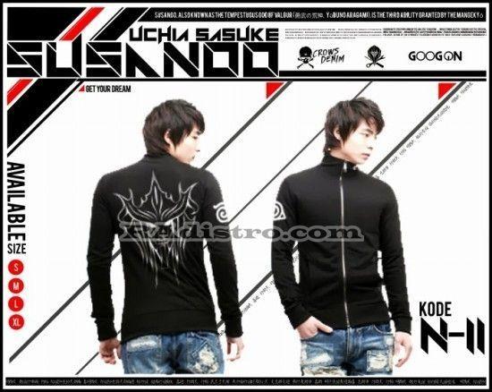 jual jaket anime online murah naruto (N 11) UCHIHA SASUKE SUSANOO