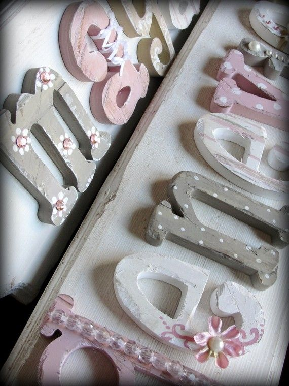 Hand Painted Wooden Name Plaques