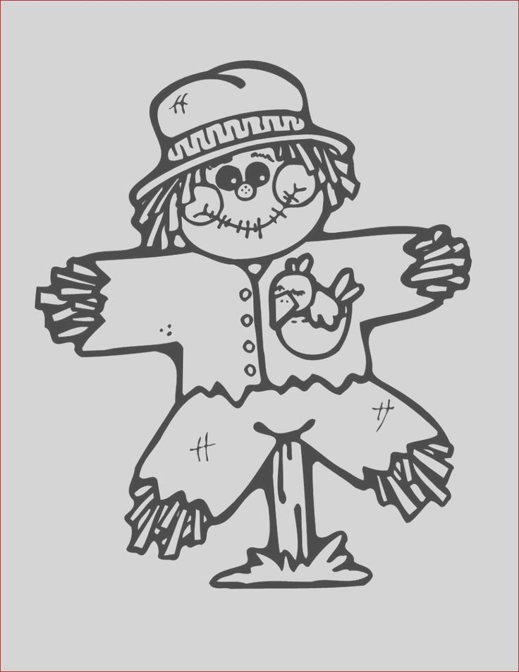 21 Cool Images Of Scarecrow Face Coloring Page in 2020