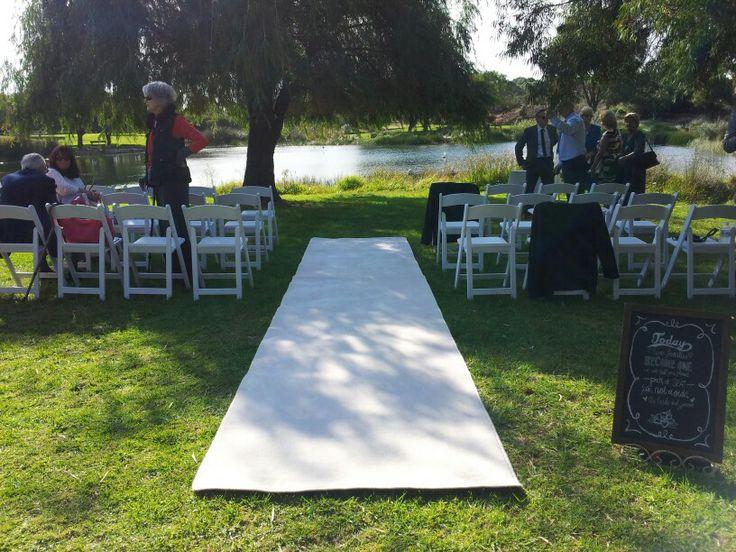 Booyeembara park wedding ceremony in fremantle