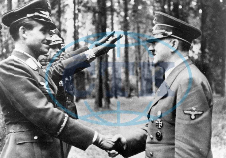 Adolf Galland award ceremony Adolf Hitler