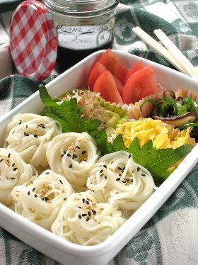 bonbonレシピ 夏の行楽・そうめん弁当 from Yukako 夏のそうめん弁当♪