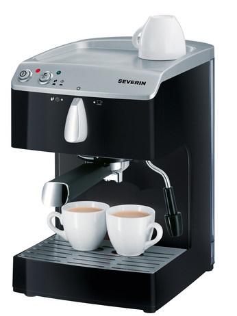CAFETERA EXPRESO 5989  Potencia approx. 1050 W  Capacidad / Contenido aprox. 1,5 Litros  Nº EAN 4008146002526  Prepara café expreso, café cremoso y bebidas calientes.  2 filtros para una taza y dos tazas de café.  Soporte (1 taza) para café expreso monodosis (ese).  Con bomba de presión de 15 bares, sistema termobloc para calentamiento rapido y temperatura constante.  Tanque de agua transparente desmontable.  Embalaje de 2 unidades. Más información pinchando la fotografía
