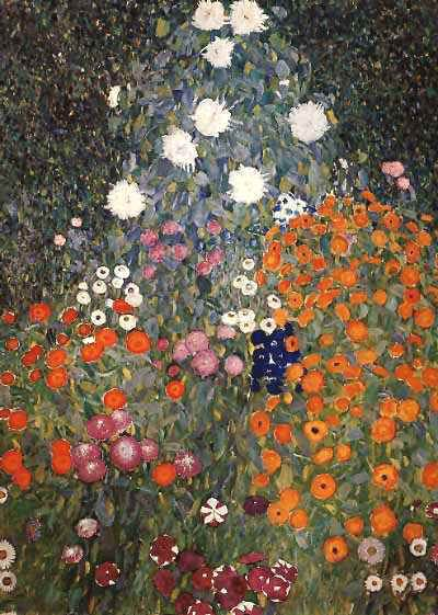 Gustav Klimt - Secession & Art Nouveau - Fleurs dans un jardin - 1905