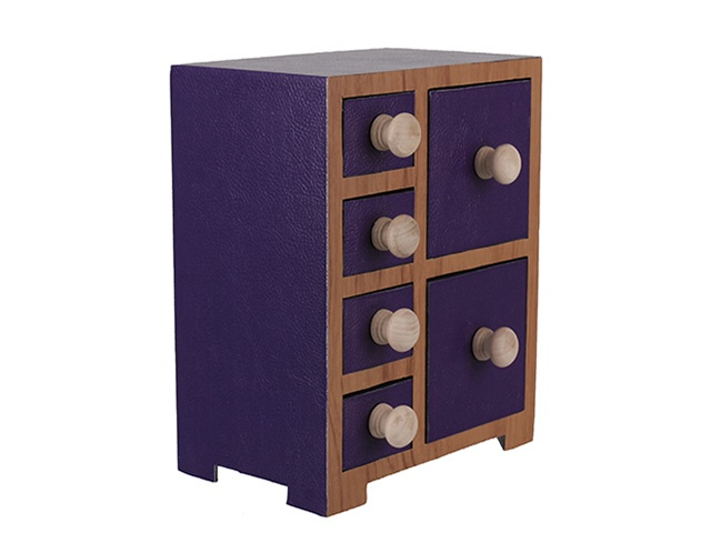 Caja multiusos con seis cajones azul tinta. ¡¡¡para guardar todo lo que necesites!!!