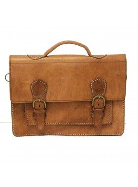 My Green Bag Tan Brown Leather Hand Stitched Satchel. Buy @ http://thehubmarketplace.com/Leather-Hand-Stitched-Satchel