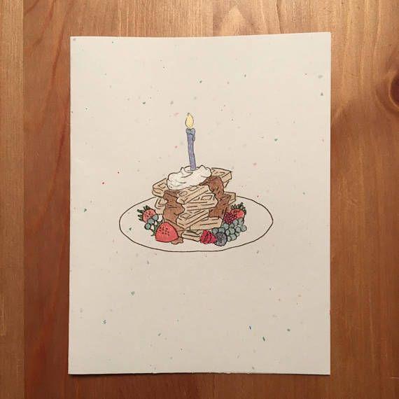 waffles celebratory card