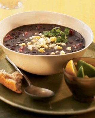 Cuban black bean soup! Cook a bag of beans and keep them in the freezer, until you need them. So yummy.