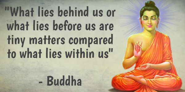 """""""What lies behind us or what lies before us are tiny matters compared to what lies within us"""" - Buddha #BringHomeFestival"""