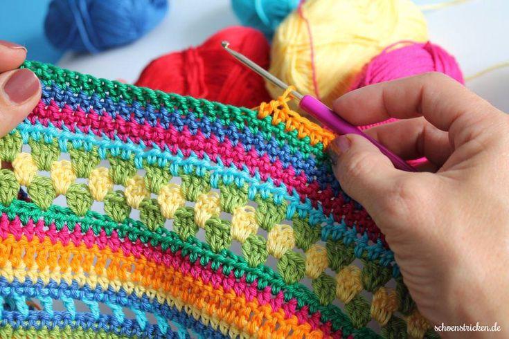 Regenbogen Babydecke Crochet Along Teil 3 - schoenstricken.de