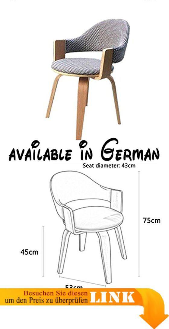 B076KK4FFD : DFHHG Stuhl Computer Stuhl Birke Stuhl Stuhl Stuhl Möbel  Massivholz Erwachsenen Bürostuhl Hause Modernen Einfachen Stuhl ( Farbe :  Grau ).