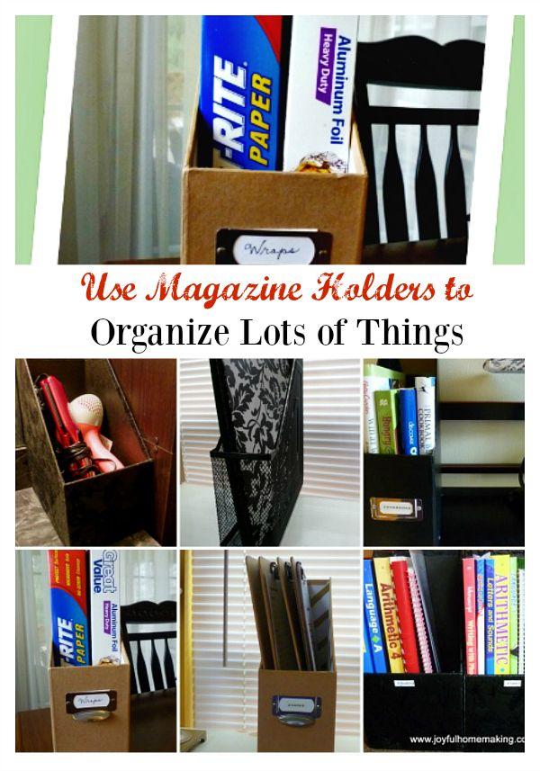 Use Magazine Holders to Organize