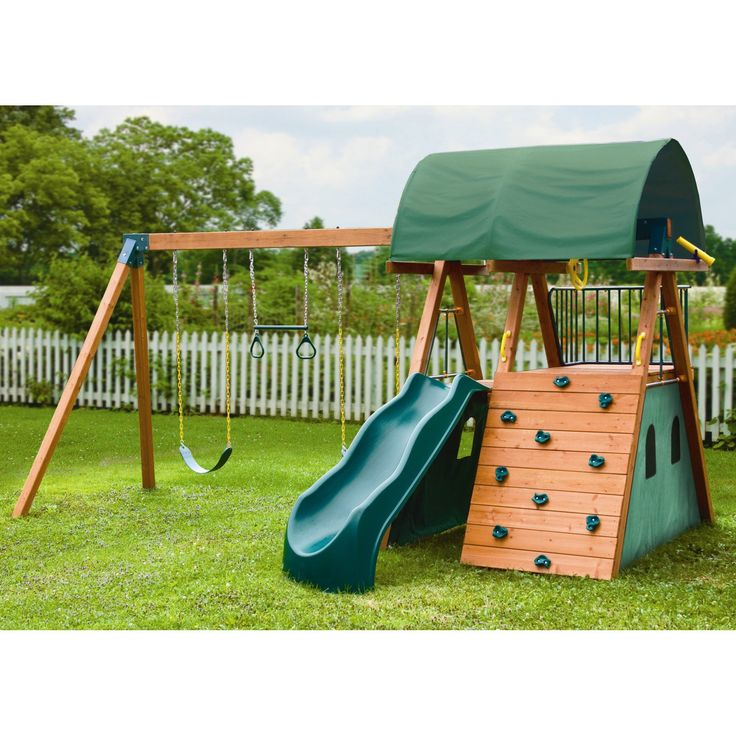 Kid Gymz Supreme Wood Swing Set | from hayneedle.com