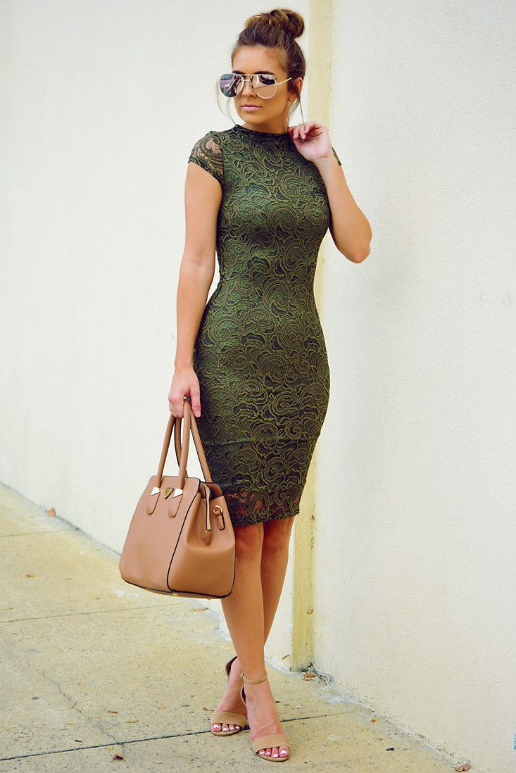 Take Me Places Dress: Olive #shophopes