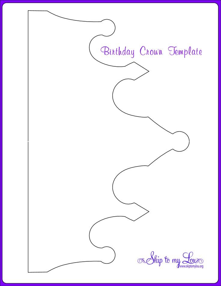 Birthday Crown Cut Out Paper crown template