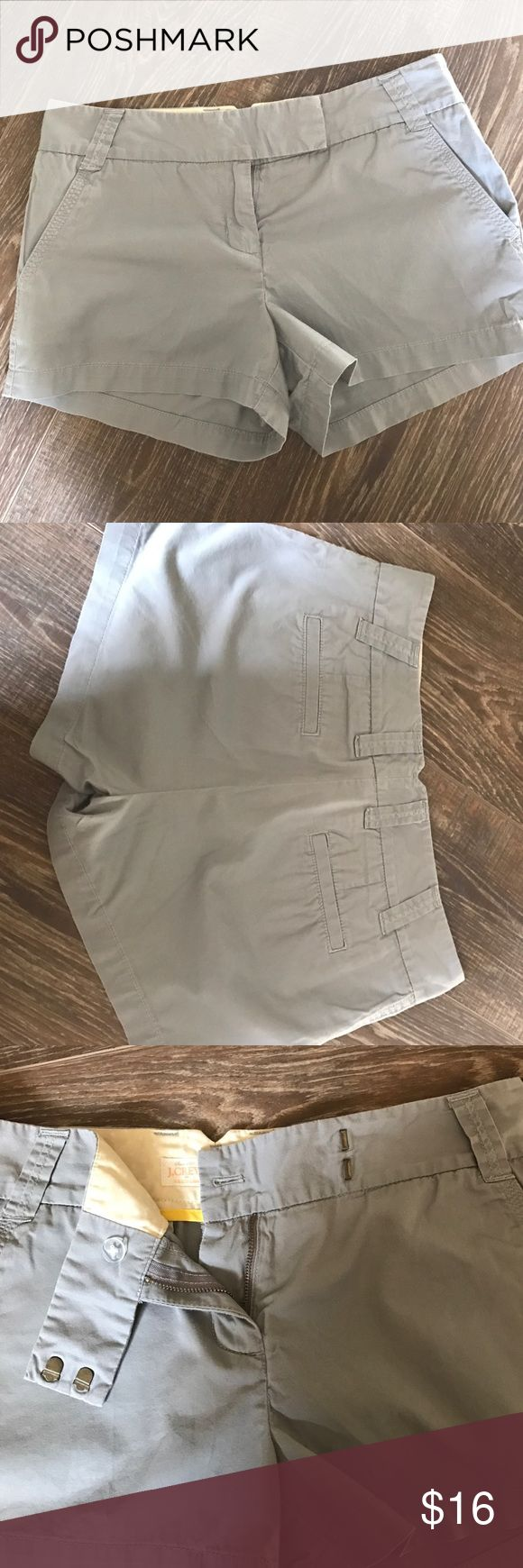 J.Crew gray shorts J.Crew gray shorts in great condition. Button and hook closure. Worn a handful of times. J. Crew Shorts