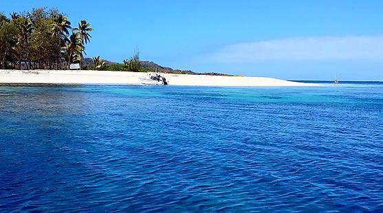 Blue Lagoon beach in the Yasawas, Fiji
