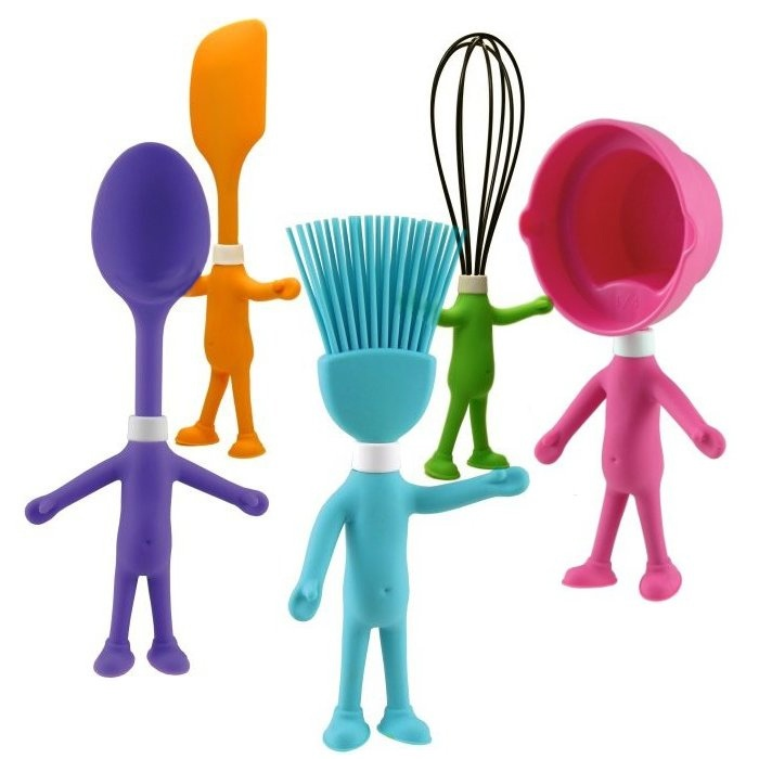 Cute HEAD CHEFS Kid's Posable Silicone Kitchen Utensils ...