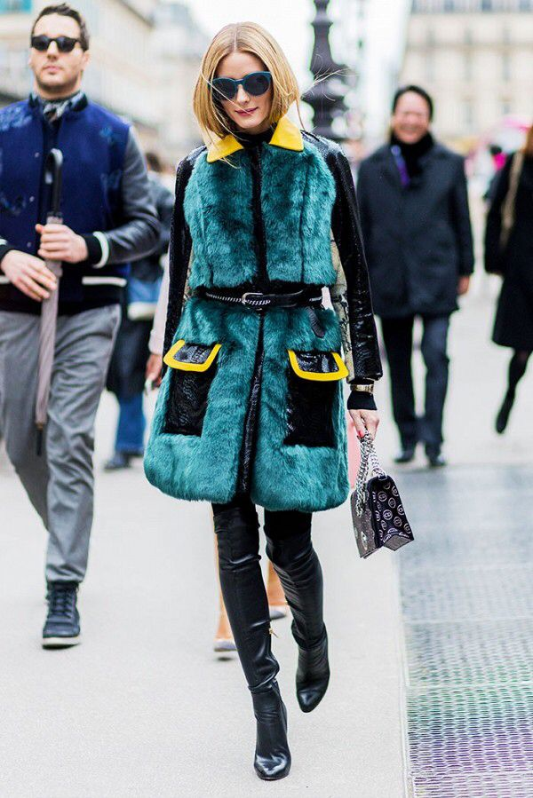 This fur vest....the way she wears it...just awesome!love her style....Olivia Palermo