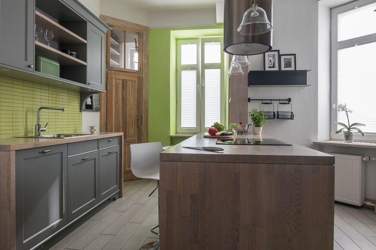 Apartament na Mokotowie - kuchnia - tryc.pl shabby chic kitchen