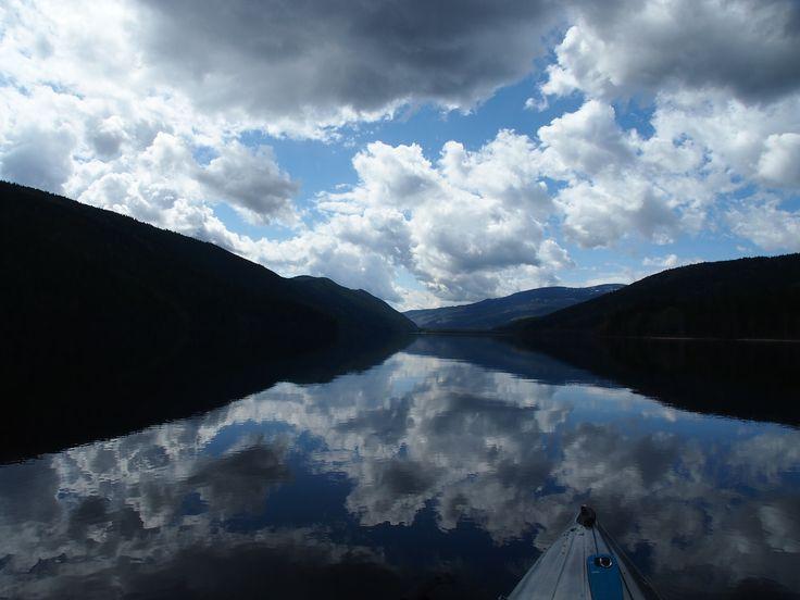 (kayaking on) North Barriere Lake, May 2014