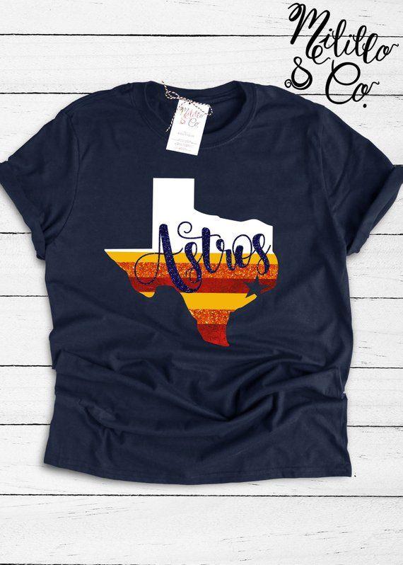 Astros Fan HTX Houston Baseball Stadium Kids T-shirt Baby Toddler Youth Tee
