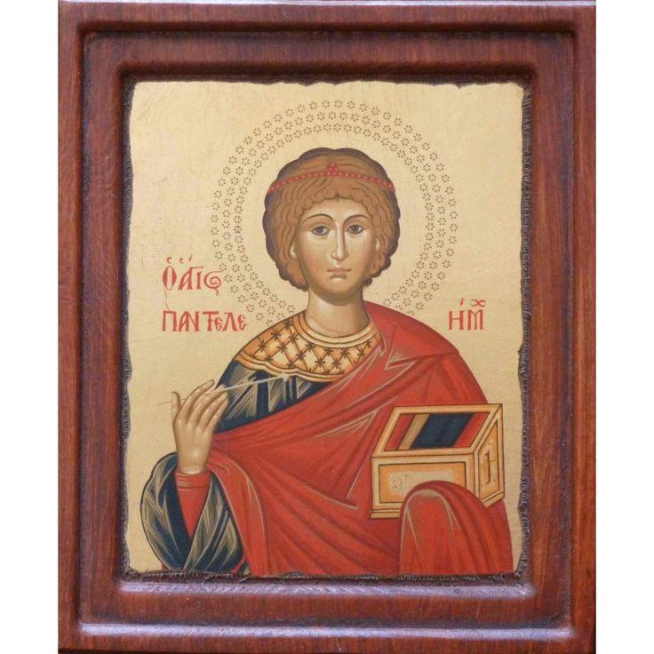 St Panteleimon icon.  ΑΓΙΟΣ ΠΑΝΤΕΛΕΗΜΩΝ, ΜΕΤΑΞΟΤΥΠΙΑ