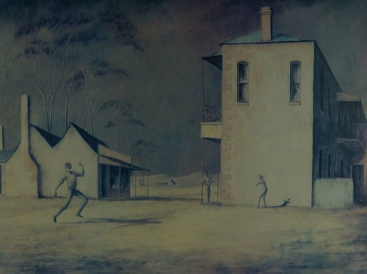 RUSSELL DRYSDALE (1912 - 1981)  Vintage Decorative Lithographic Print Title: The Cricketers Size: 58cm x 80cm Artwork is Unframed