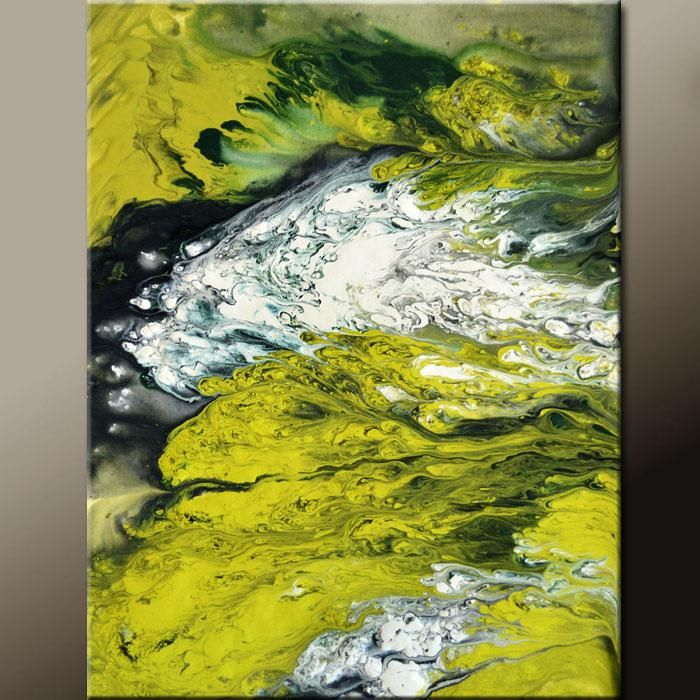 Abstract Canvas Art Contemporary Painting 18x24 by Destiny Womack - dWo - Adrenaline Rush