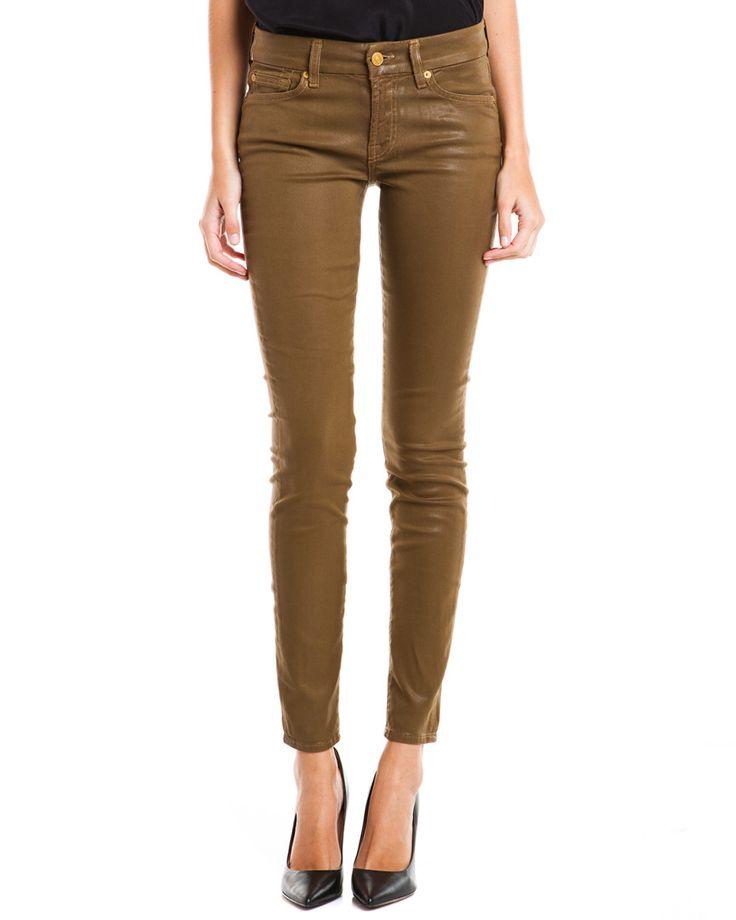"7 for All Mankind ""The Skinny"" High-Shine Leather-Like Skinny Leg  JeanWomen #Pants"