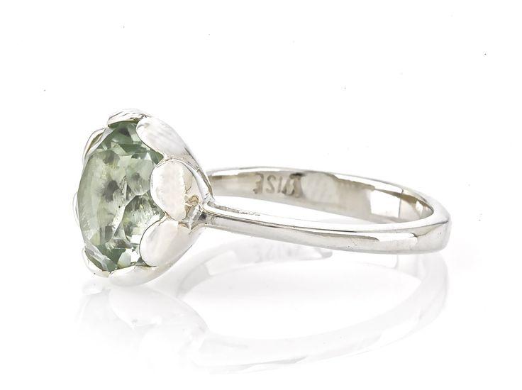Tulip - Green Amethyst from Wise Jewellery